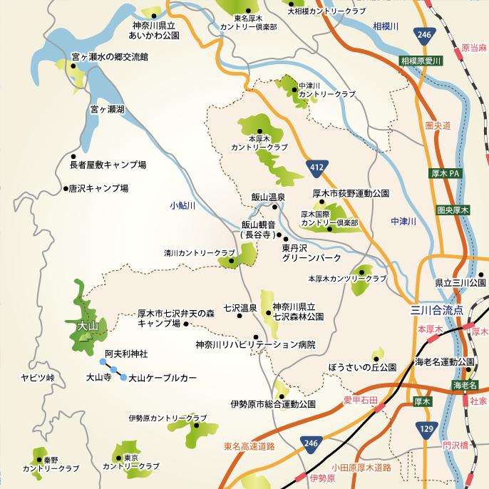 厚木市周辺MAP