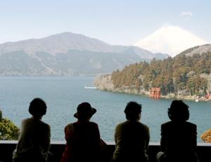 成川美術館「展望ラウンジ」からの眺め