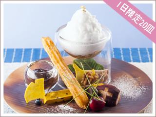 いちじくのくるみ饅頭とごまのチュロス 1,663円(緑茶付)
