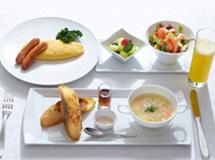 プレミアムメニューの朝食