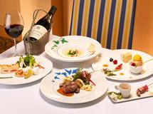 夕食の「ラ・フォーレ」コース