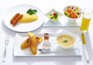朝食のプレミアムメニュー