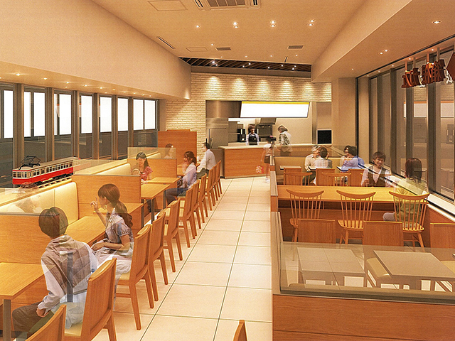 改装後の箱根カフェ店内イメージ