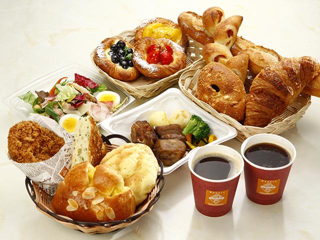こだわりのパン・デリ・コーヒーなど(イメージ)
