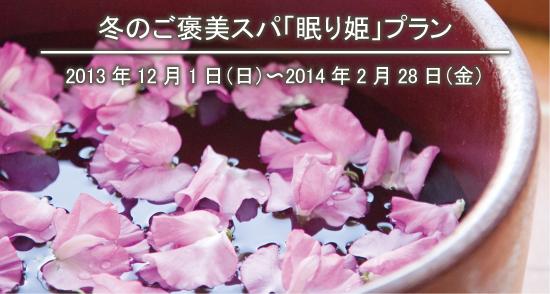 【スパ モンターニュ 冬のご褒美スパ「眠り姫」プラン】2013年12月1日(日)〜2014年2月28日(金)