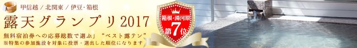 露天グランプリ2017伊豆箱根第7位受賞